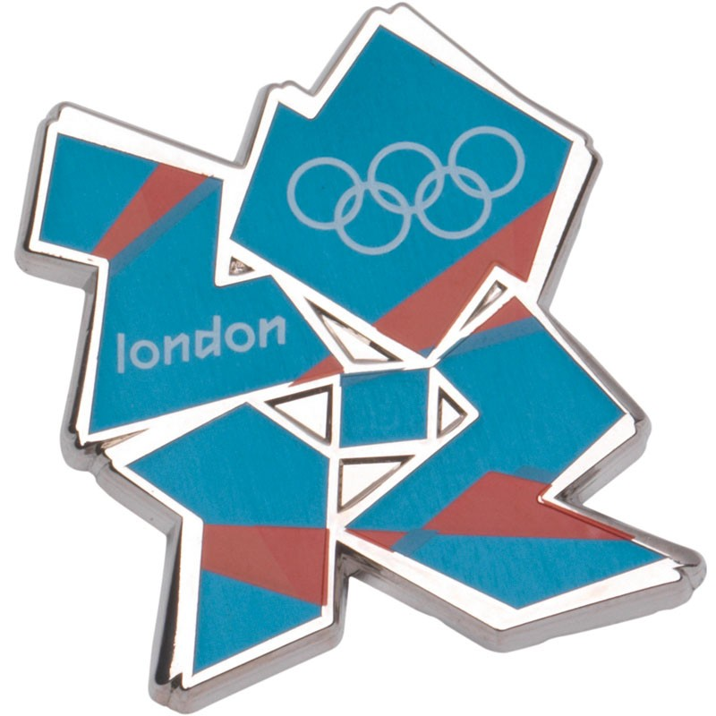 London 2012 Logo Pin Badge Blue/Orange