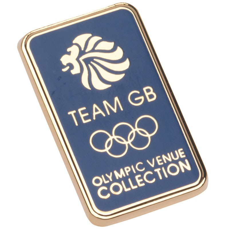 Team GB Pin Badge Navy/Gold