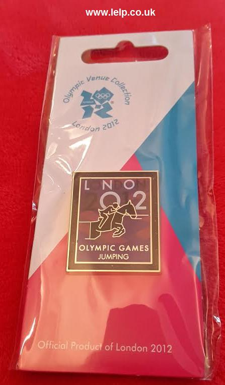 London 2012 Equestrian Jumping Pictogram Pin