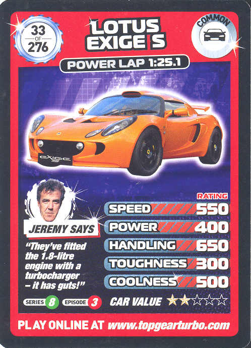 Top Gear Turbo Challenge Card 72 James Sailing Boat