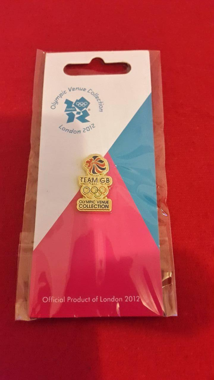 Team GB Pin - Gold with Coloured Lion Head