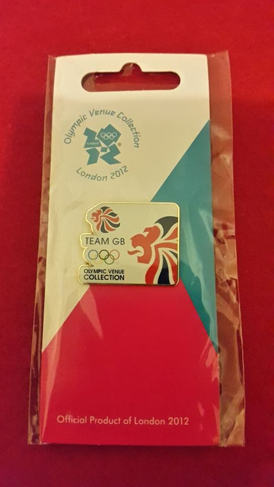 Team GB Pin - White with Coloured Lion Head